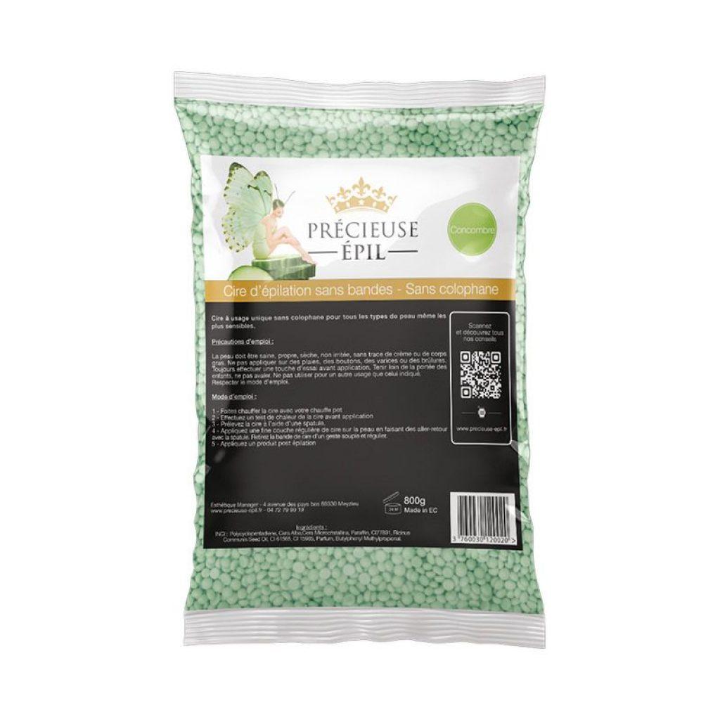 précieuse épil cire sans bande sans colophane concombre